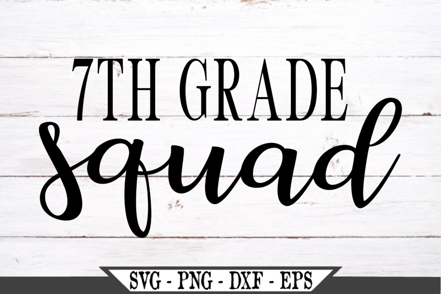 7th Grade Squad for Seventh Grader SVG example image 2