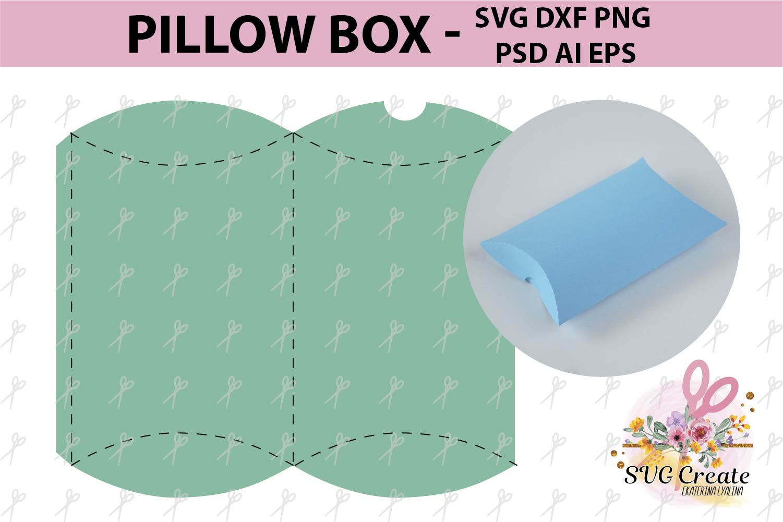 Pillow Box Template Gift Favor Papercut Diy Paper Print
