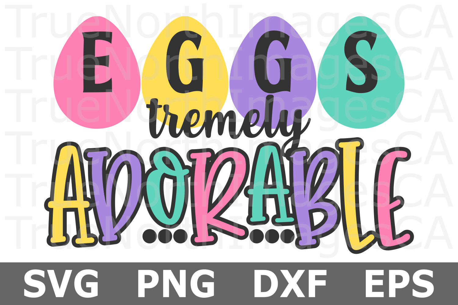 Eggs tremely Adorable - An Easter SVG Cut File example image 1