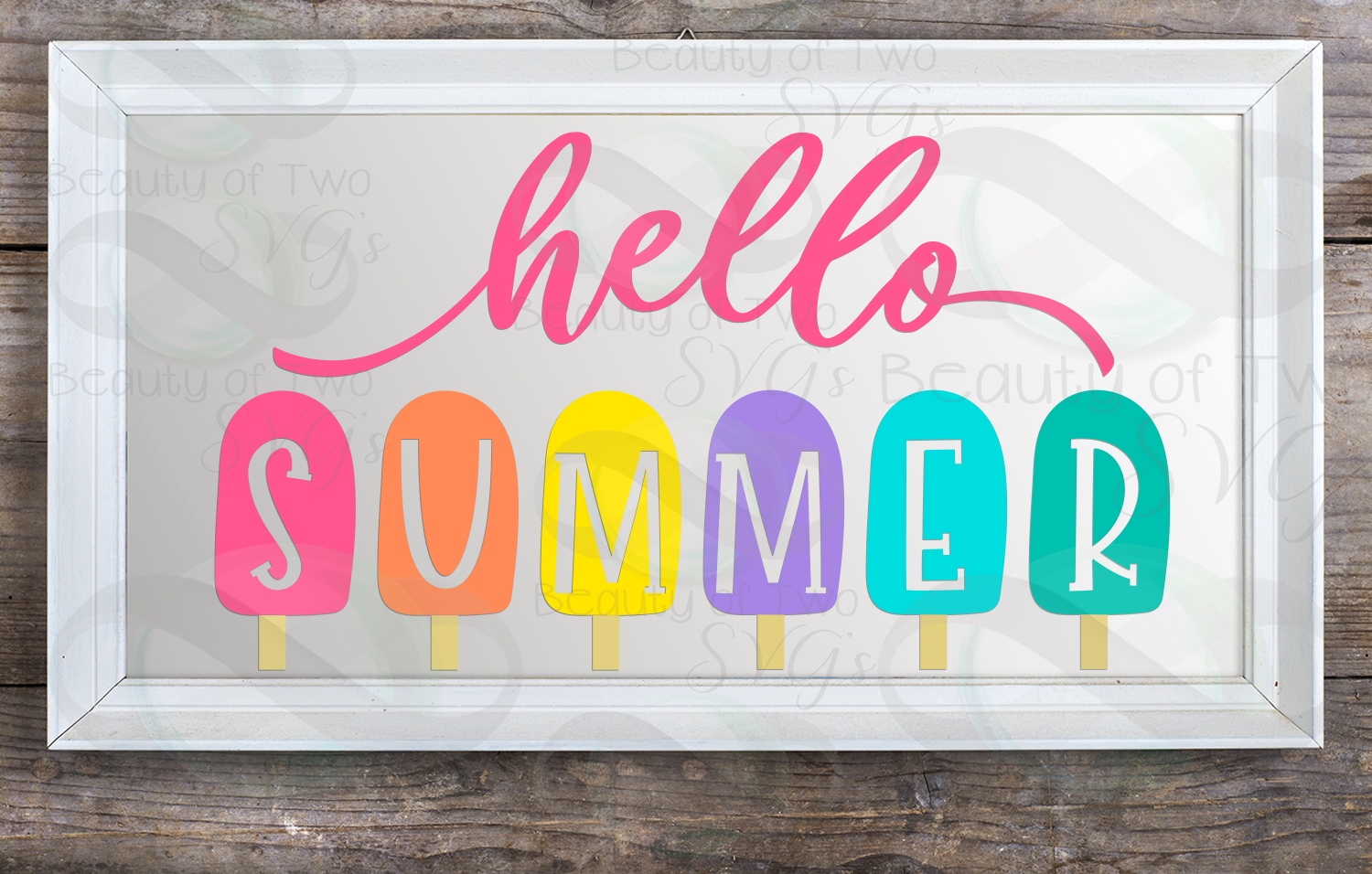 Hello Summer popsicles svg and png, Summer svg popsicles svg example image 2