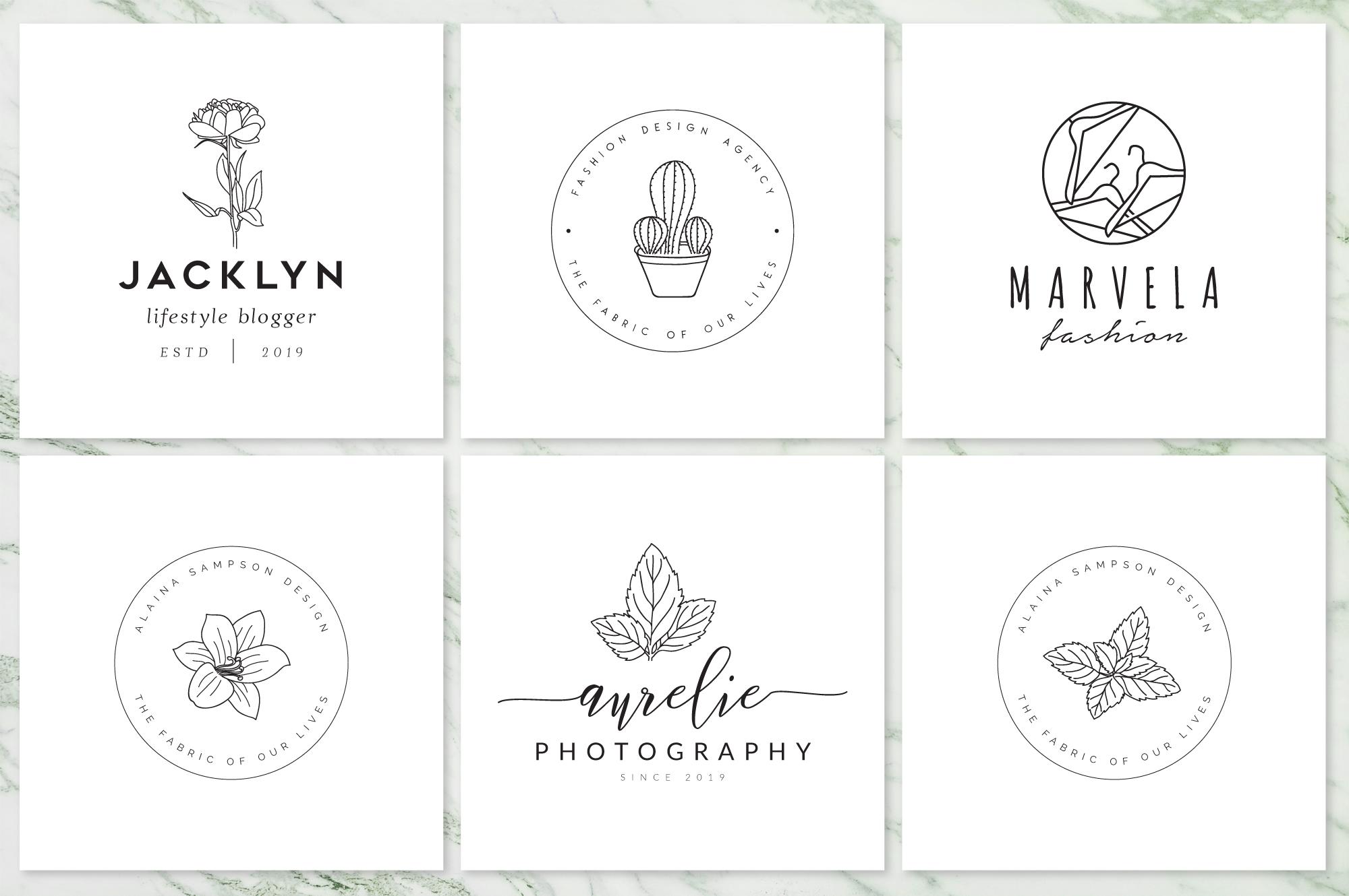 Feminine Branding Premade Logos V02 example image 4