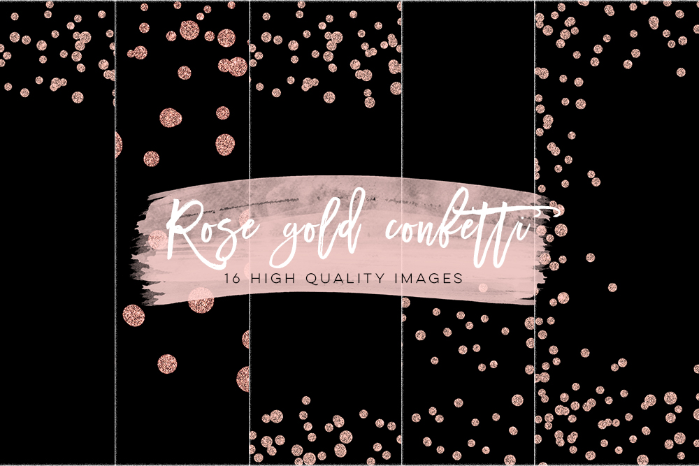 Rose Gold Confetti Overlays, Rose Gold Scrapbook Paper, Gold Paper, Rose Gold Glitter Confetti, Rose Gold Party Backgrounds, Best Selling example image 3