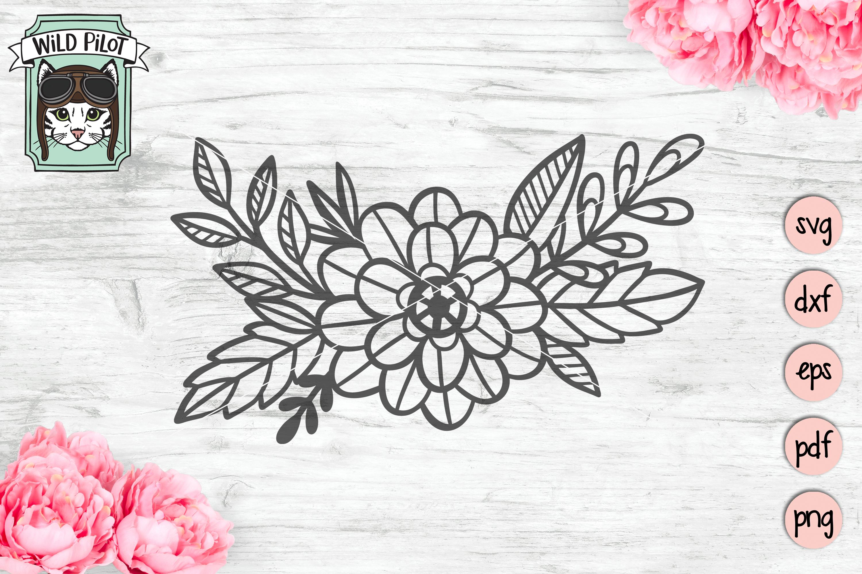 Flowers SVG file, Floral cut file, Flower Accent, Bundle example image 6