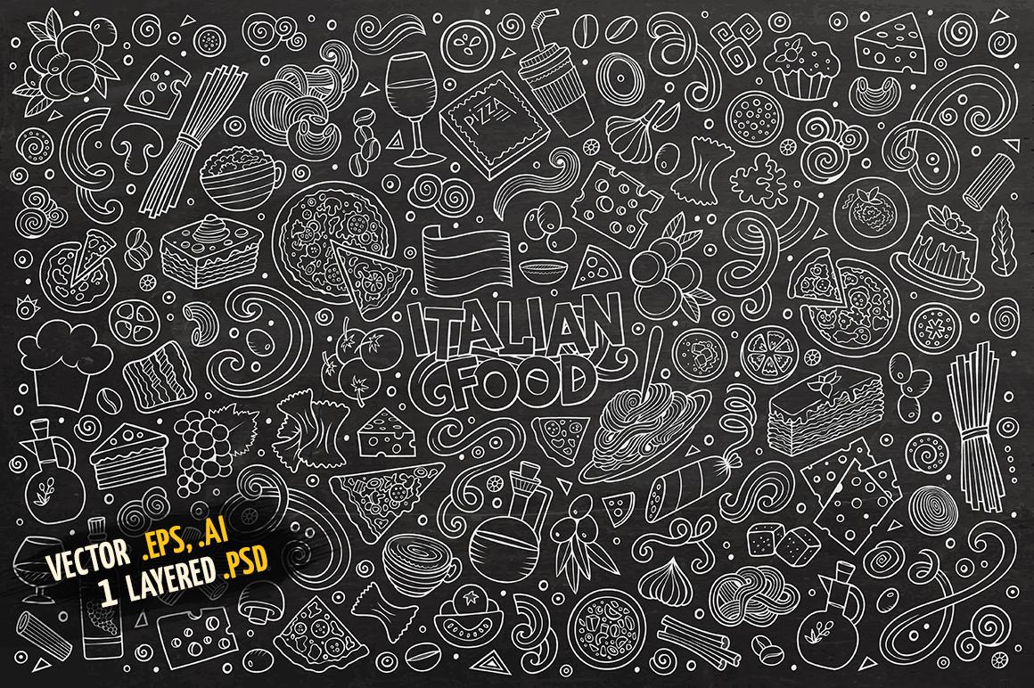 Italian Food Objects & Symbols Set example image 4