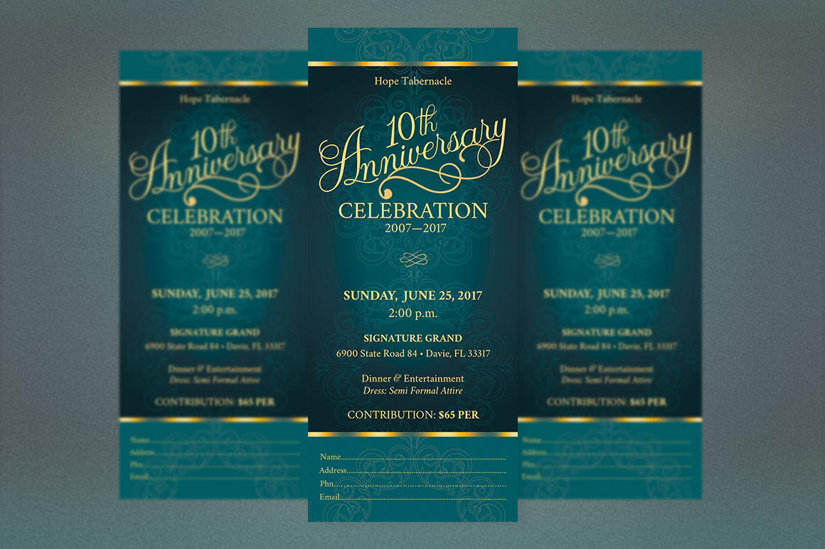 Church Anniversary Publisher Ticket Bundle example image 8