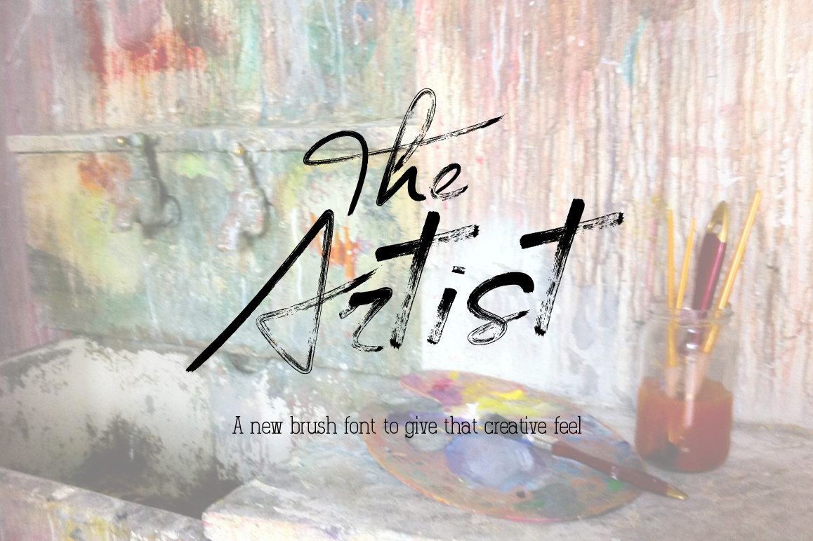 The Artist Brush Font example image 1