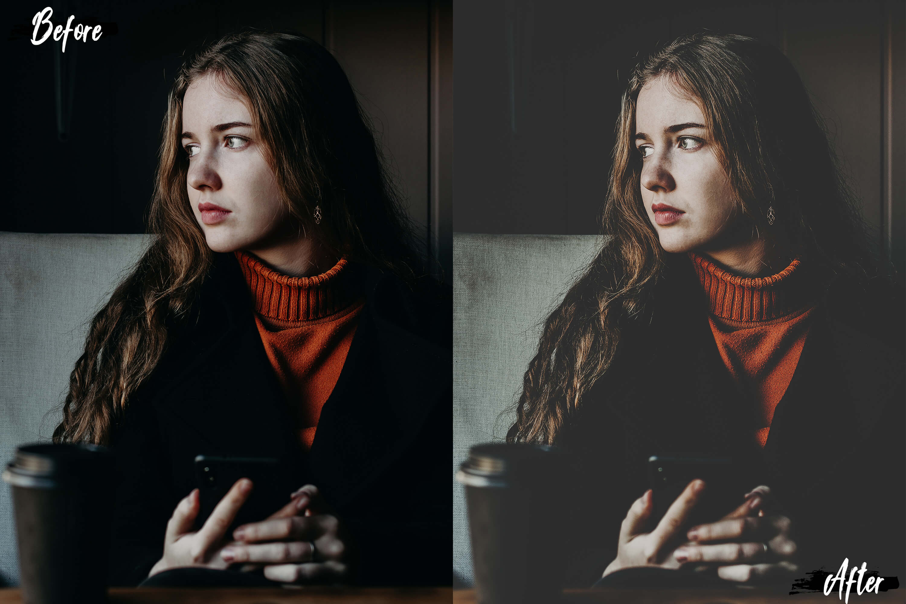 Neo Matte Theme Color grading Photoshop Actions example image 3
