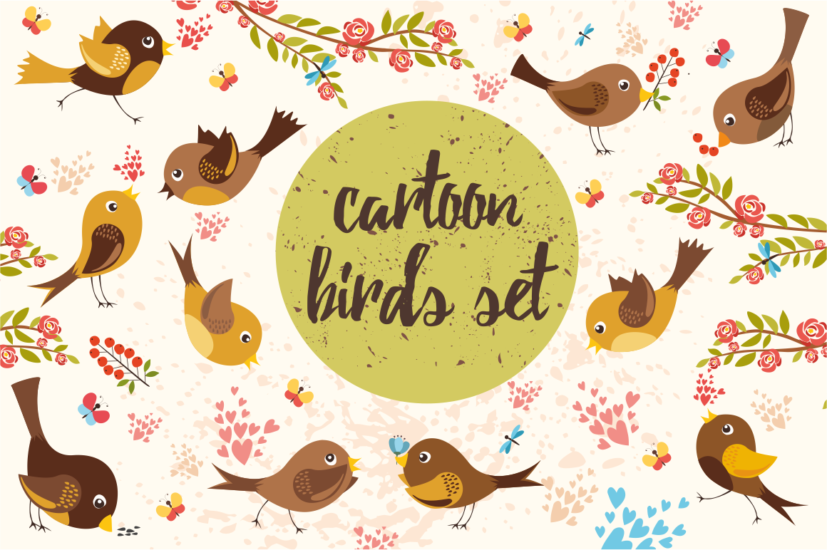 Birds set (vector,jpg,png) example image 3