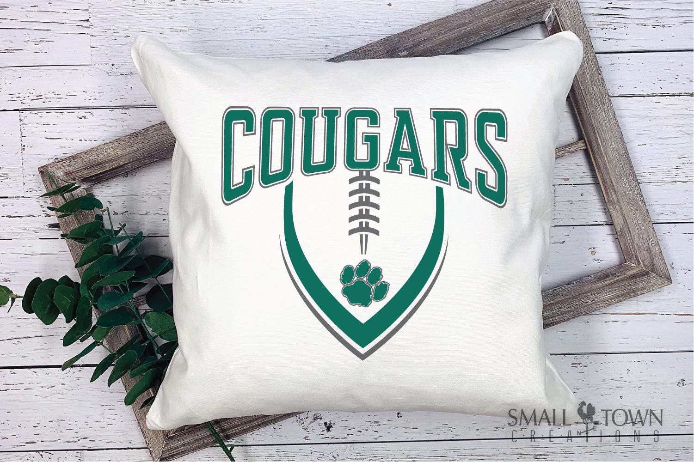Cougar Football, Paw Print, Team, PRINT, CUT & DESIGN example image 3