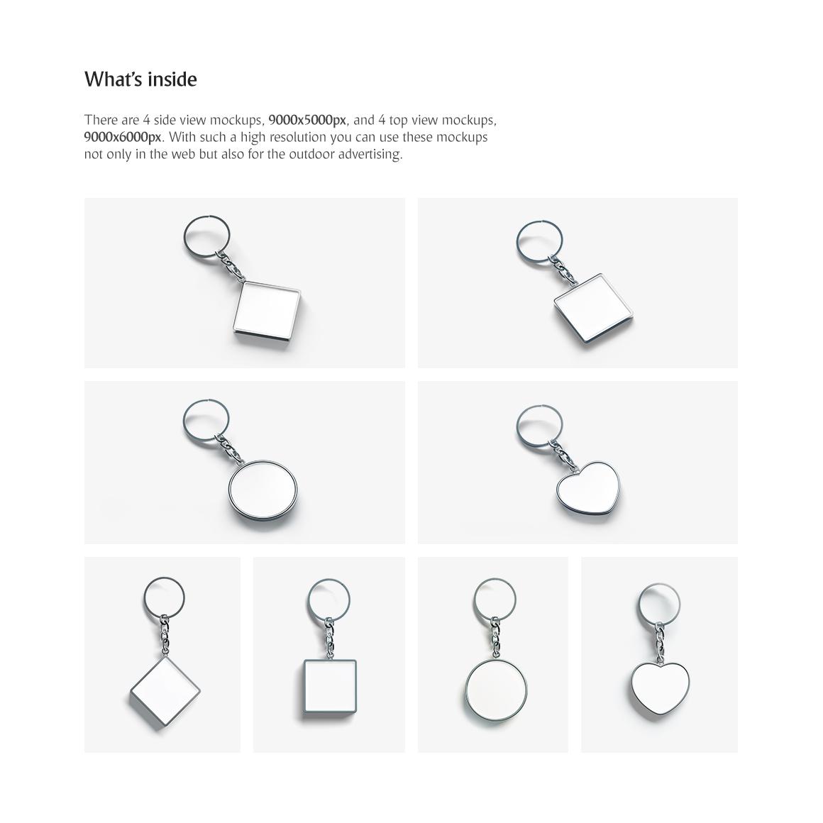 Keychain Mockups Set example image 2