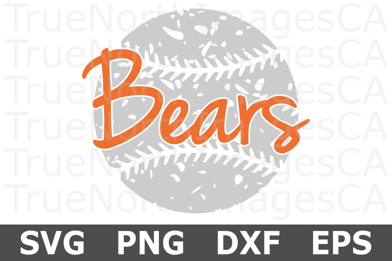 Bears Grunge Baseball - A Sports SVG Cut File example image 2