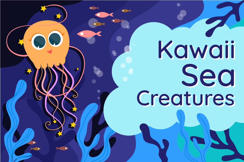 Cartoon Sea Creatures example image 1