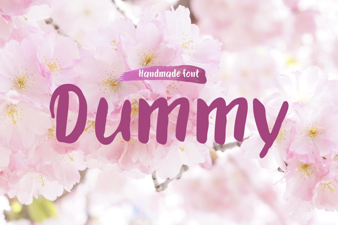 Dummy—handwritten font example image 1
