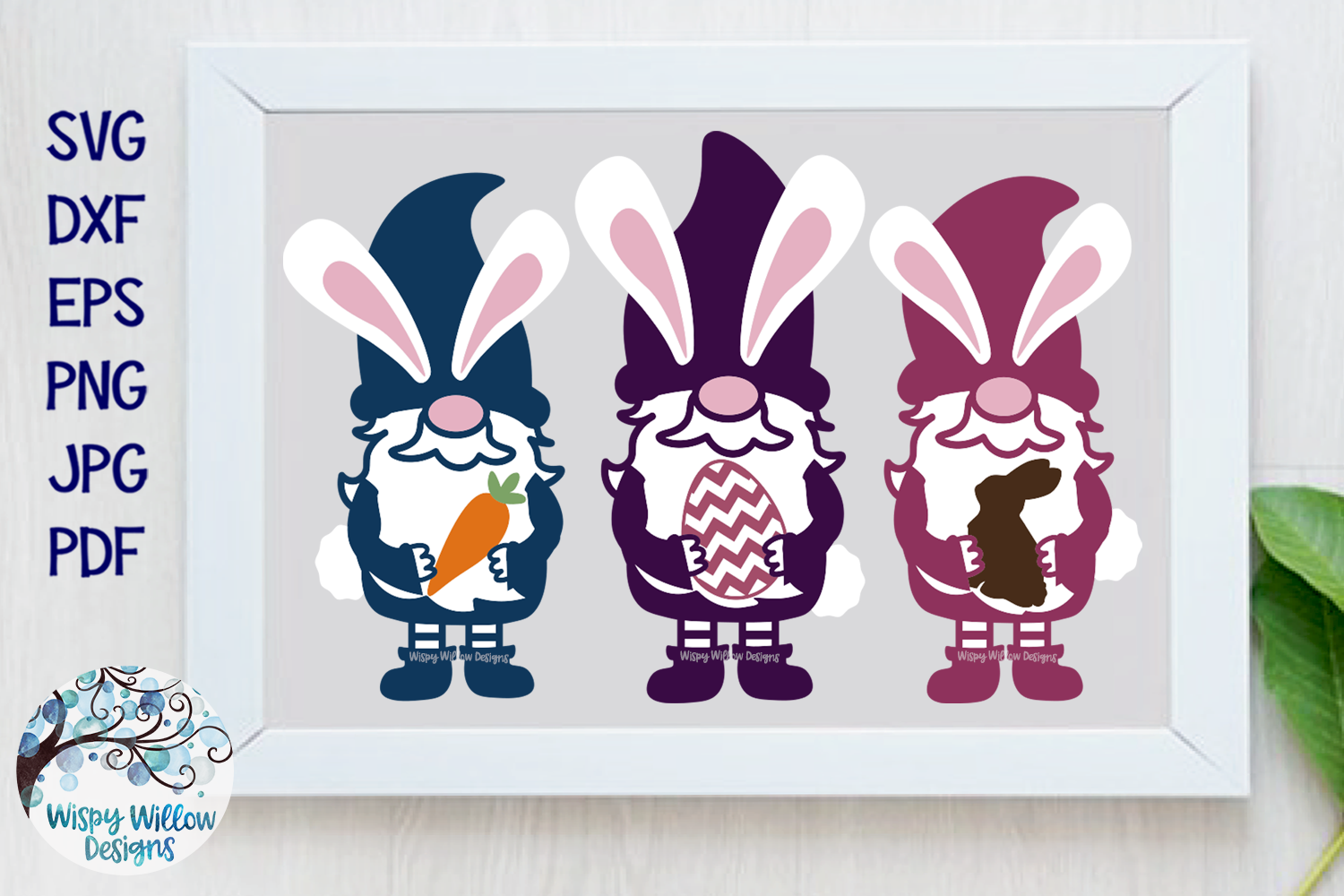 Easter Gnomes SVG | Easter Bunny Gnome SVG Cut File example image 1