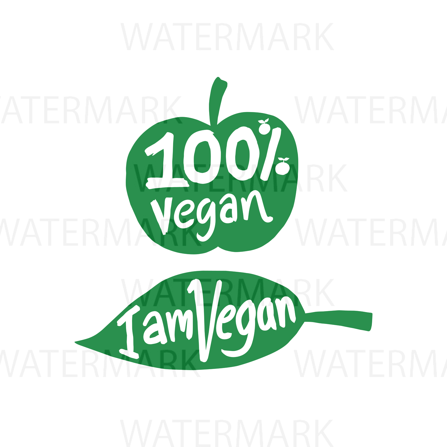 100% Vegan and I am vegan - SVG/JPG/PNG - Hand Drawing example image 1