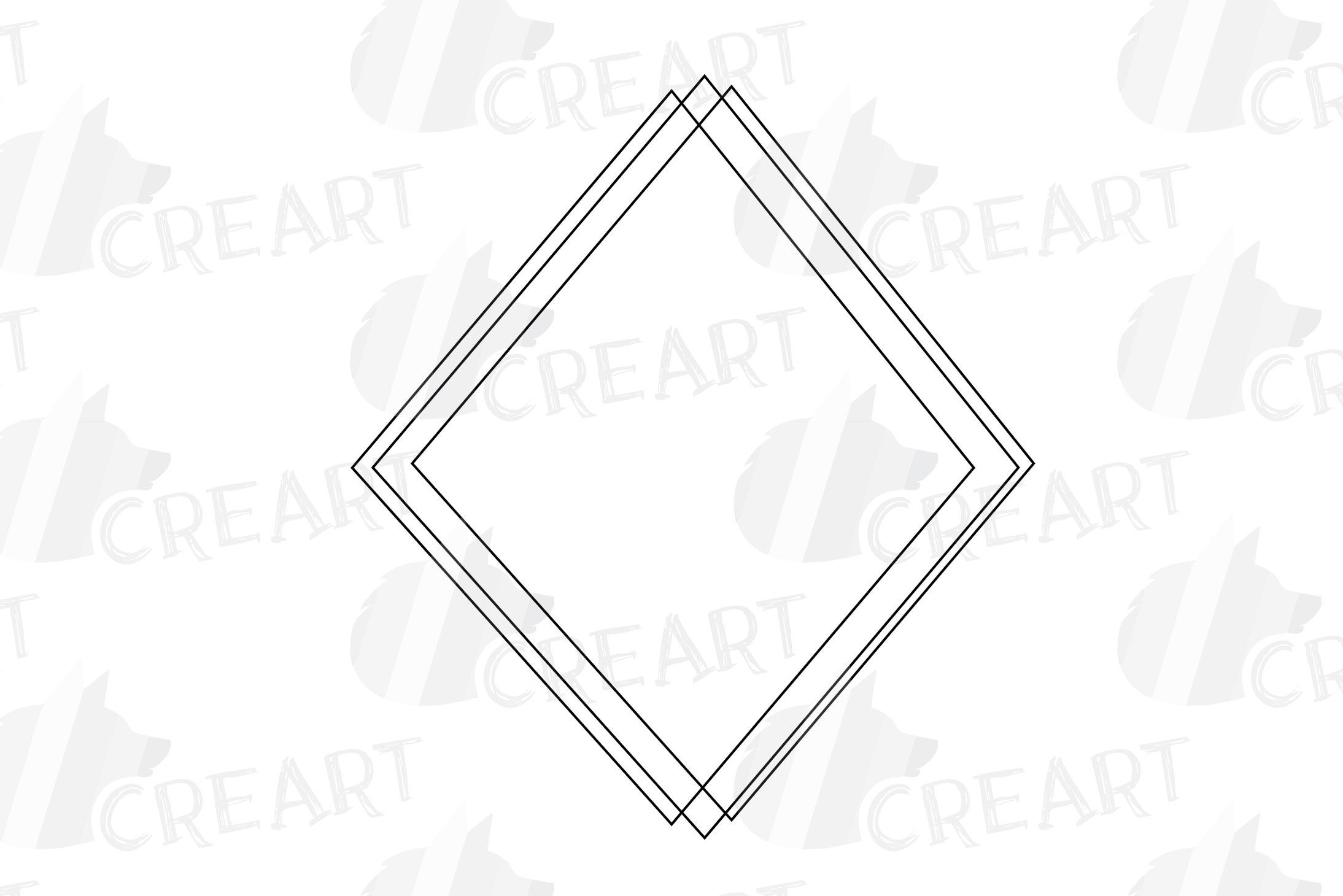 Geometric lineal black frames decor clip art. Wedding border example image 15