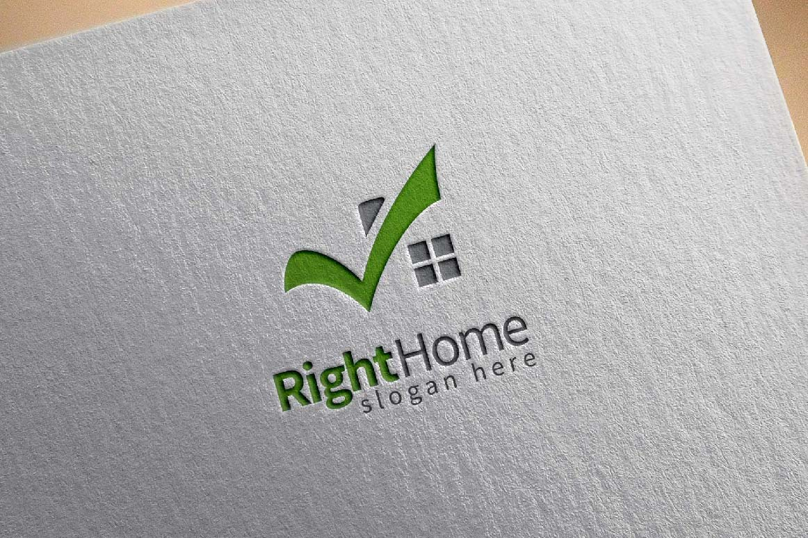 Real estate logo,check home, house logo example image 4