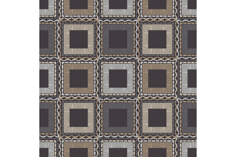 Zebra stripes. Ethnic boho ornament. 10 seamless patterns. example image 5