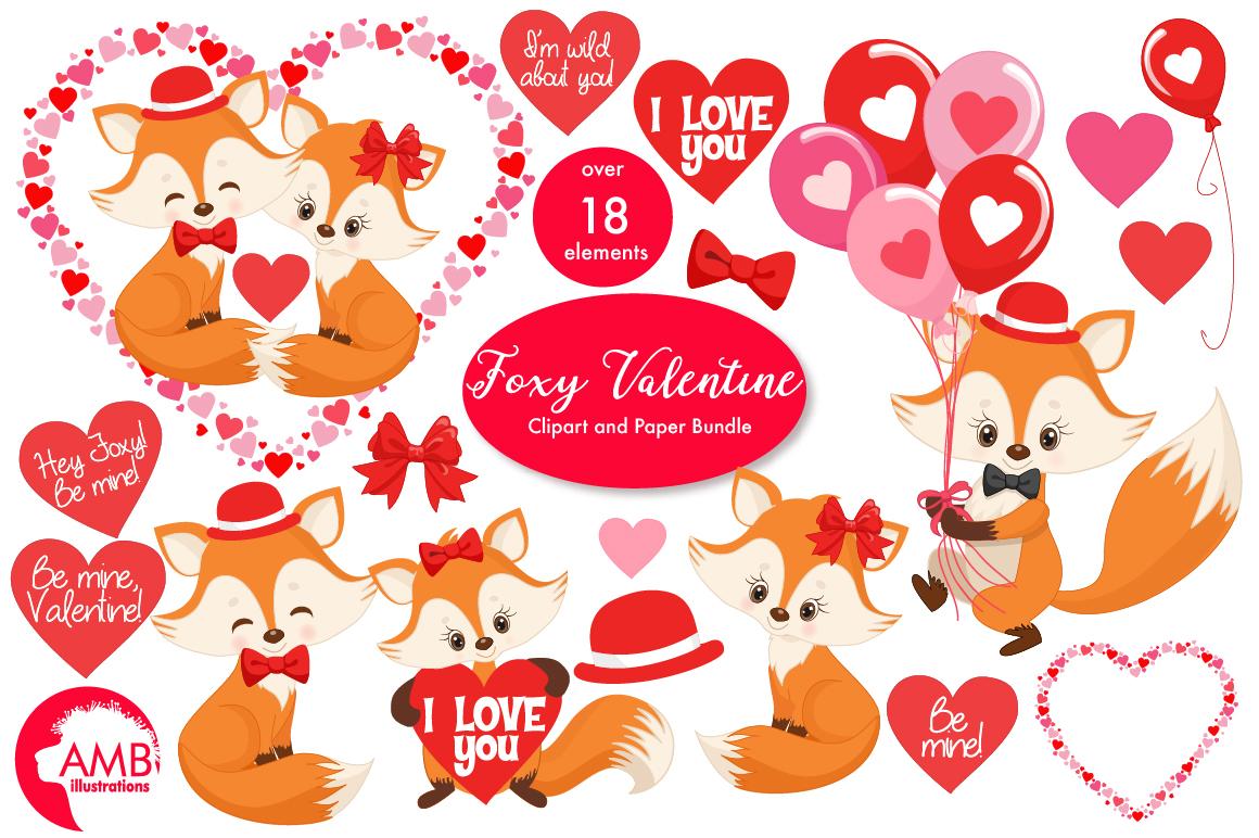 Valentine cliparts, graphics, illustrations AMB-1582 example image 1
