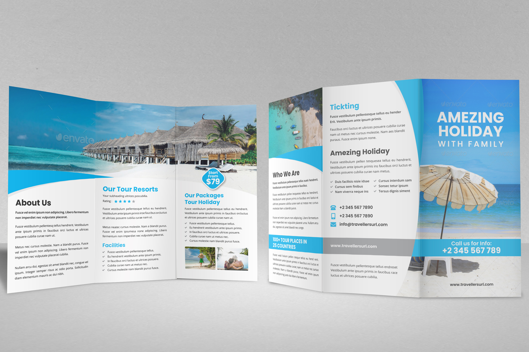 Travel Resort Trifold Brochure v3 example image 11