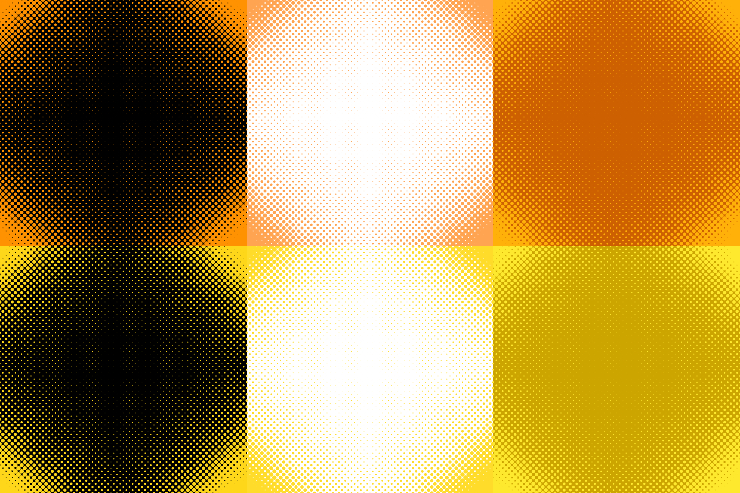 30 Halftone Circle Backgrounds AI, EPS, JPG 5000x5000 example image 4