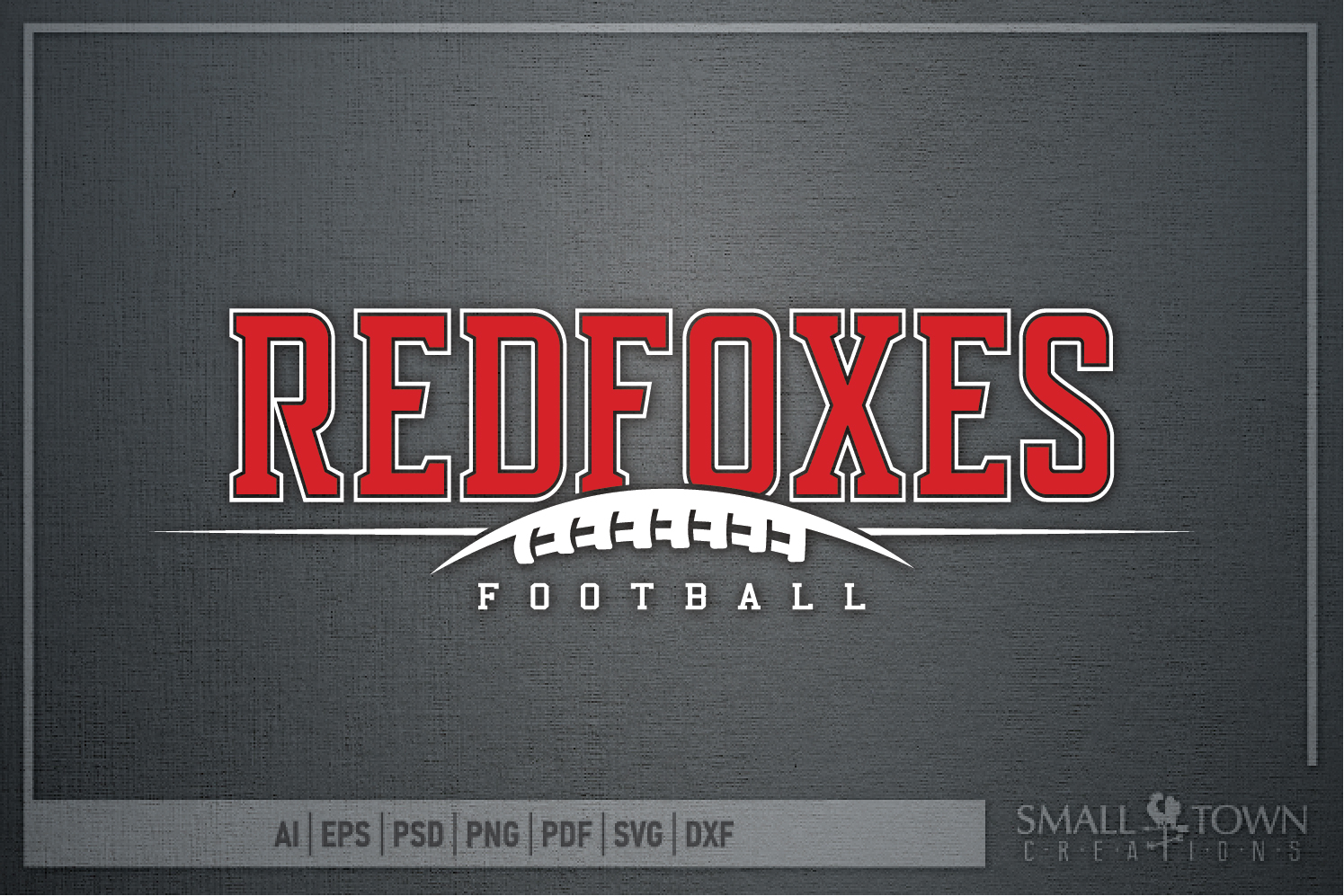 Redfoxes Football Team, Team, Sport, PRINT, CUT & DESIGN example image 5