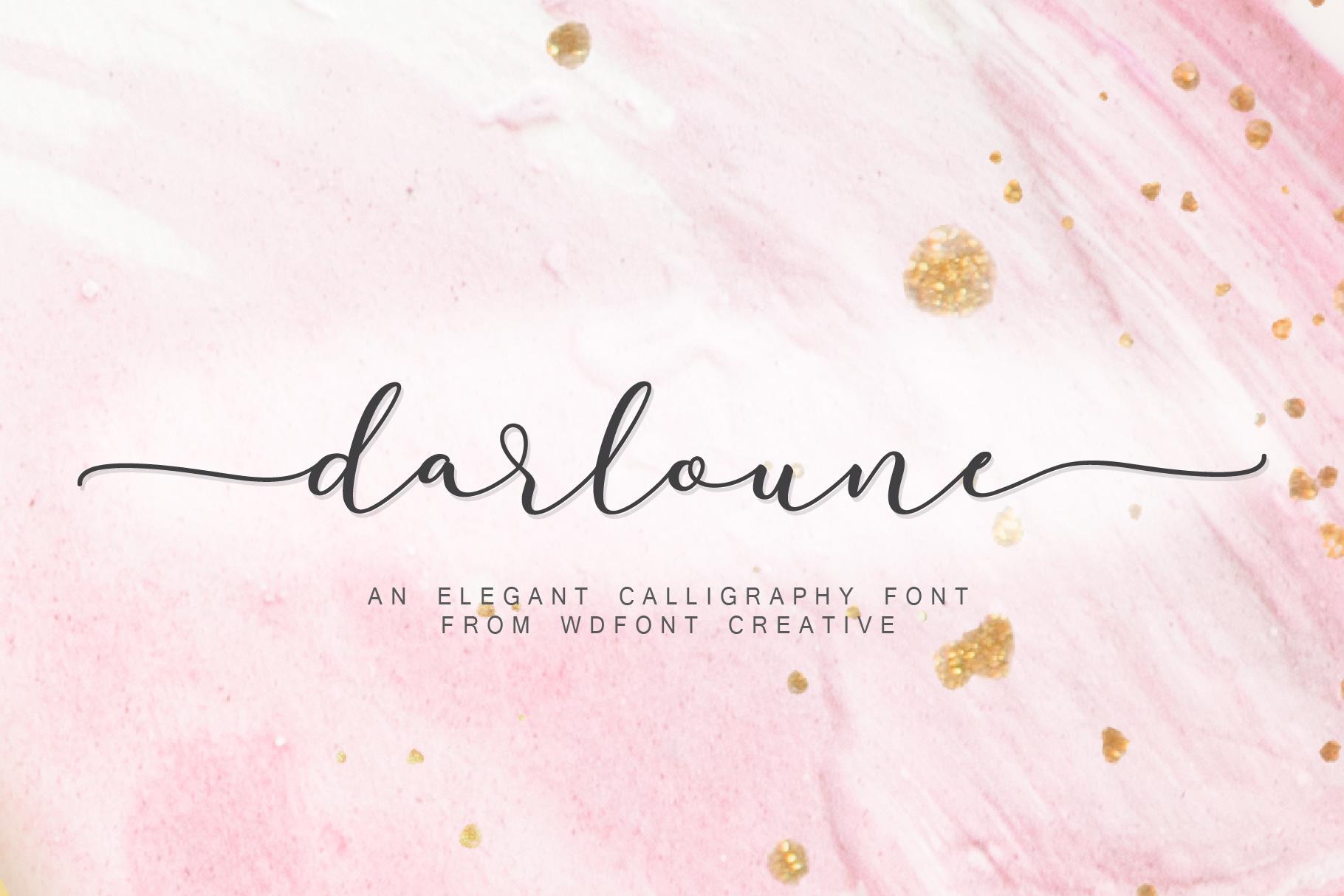 Darloune | An Elegant Calligraphy example image 1