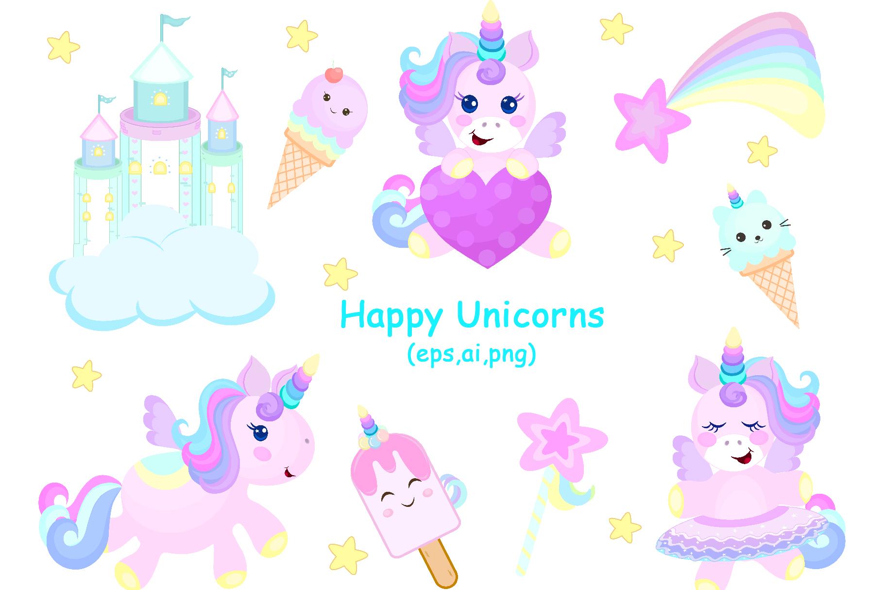Happy Unicorns example image 1