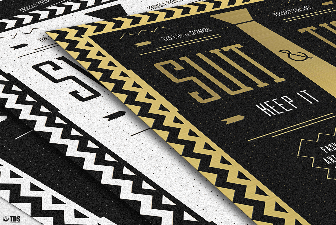 Suit and Tie Flyer Template V3 example image 10