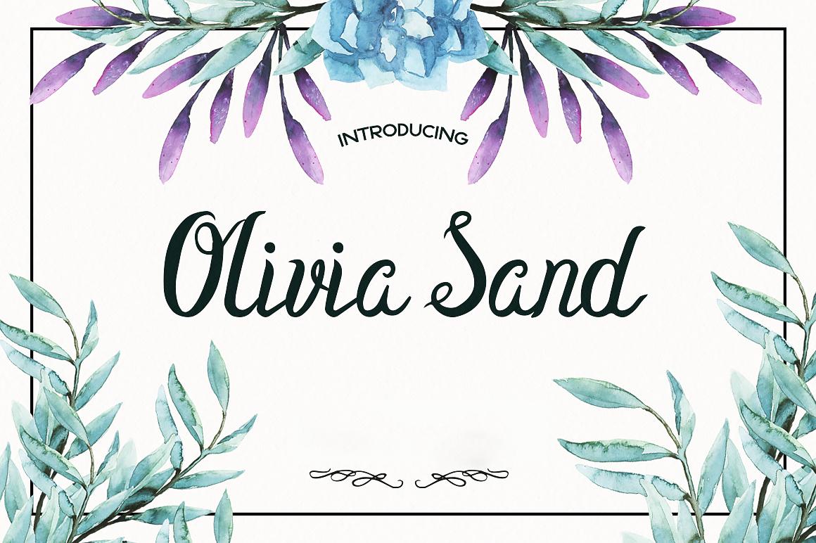 Olivia Sand Typeface example image 1