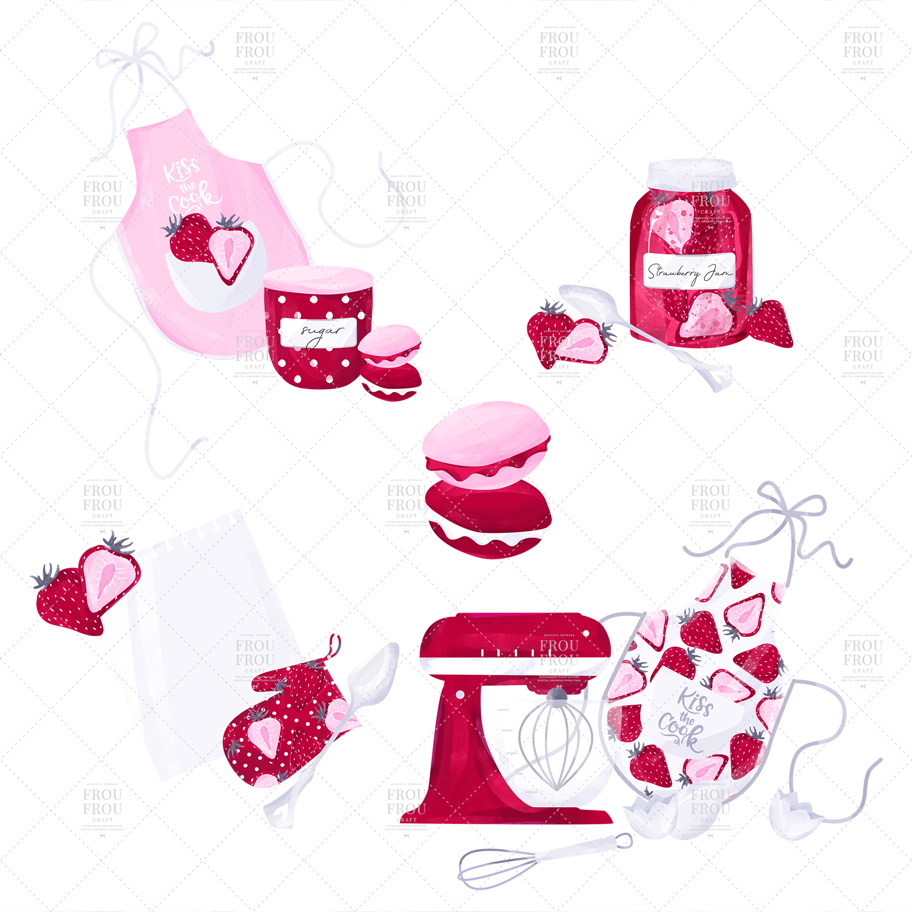 Cooking Bakery Strawberry Kitchen Clip Art example image 8