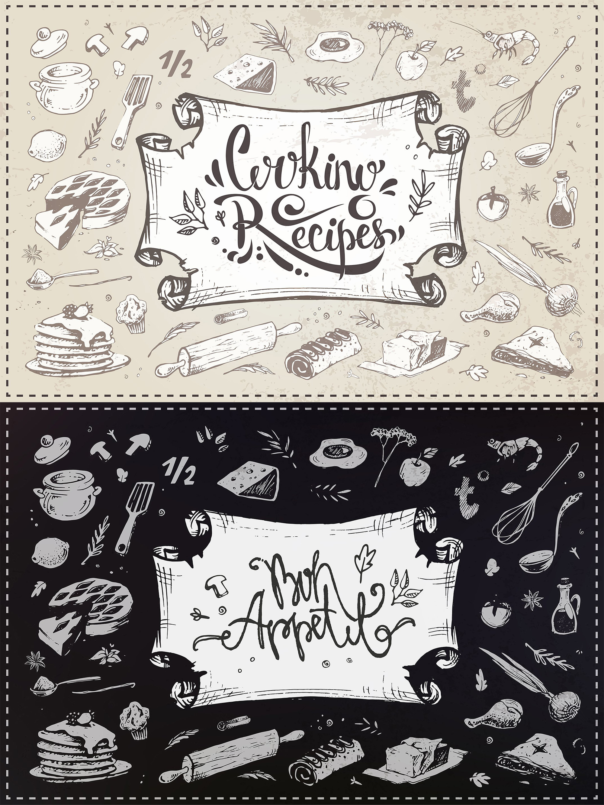 Hand drawn cooking and food icons example image 15