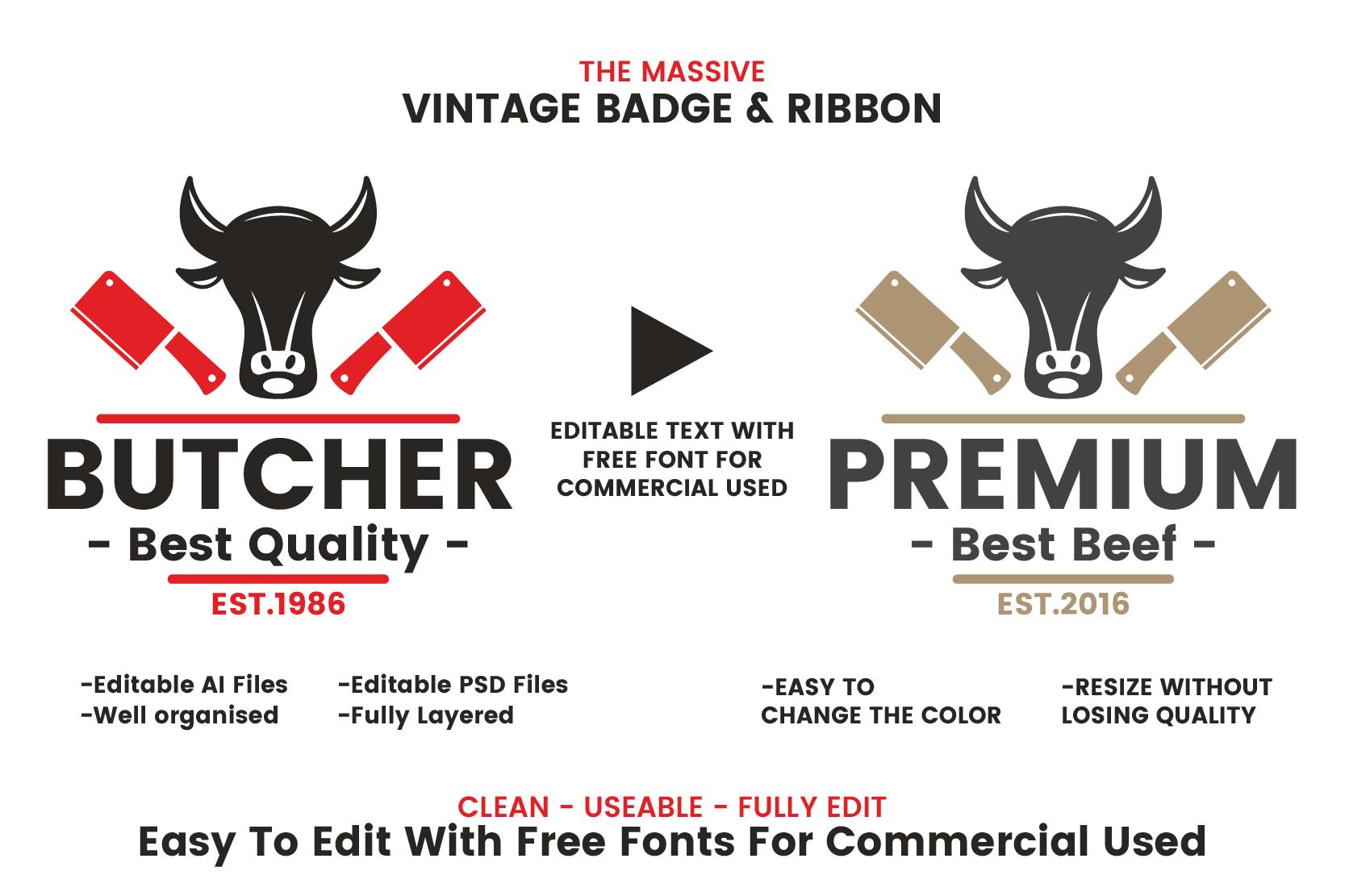 71 VINTAGE BADGE & RIBBON Vol.7 example image 2