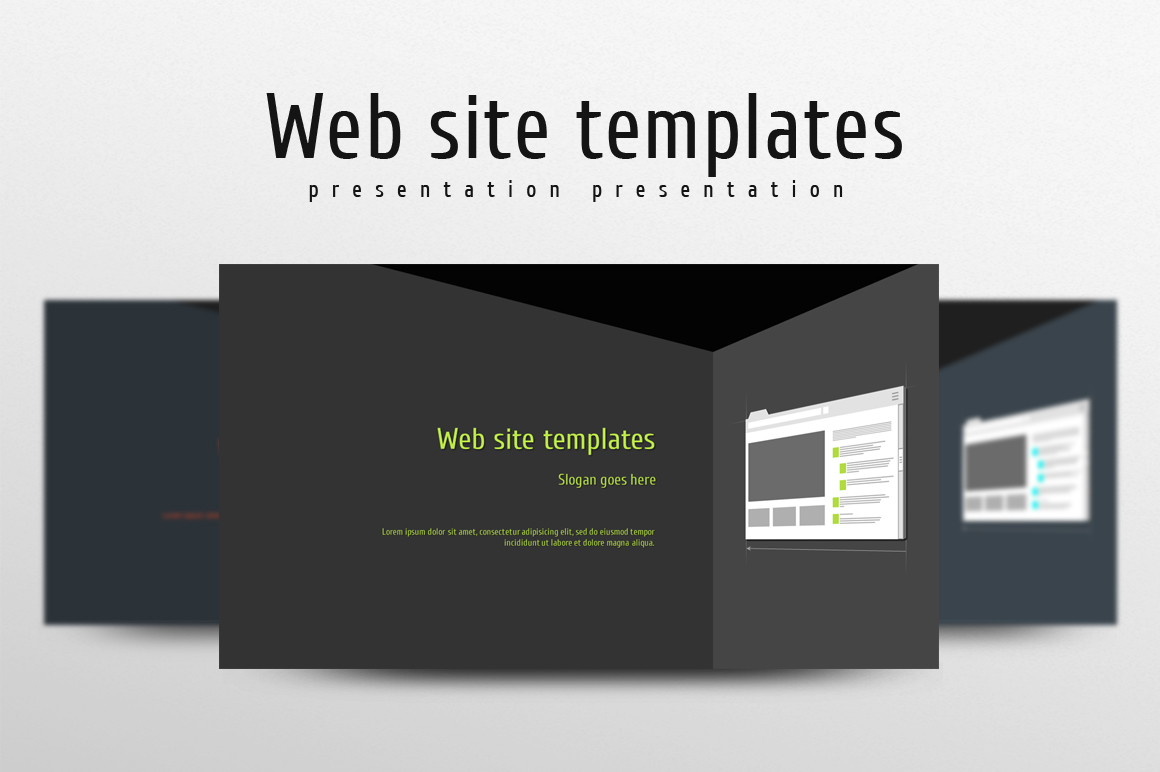 Web Design PowerPoint Template example image 1