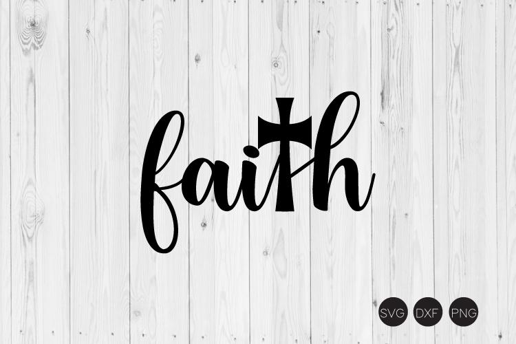 Faith Cross SVG example image 1