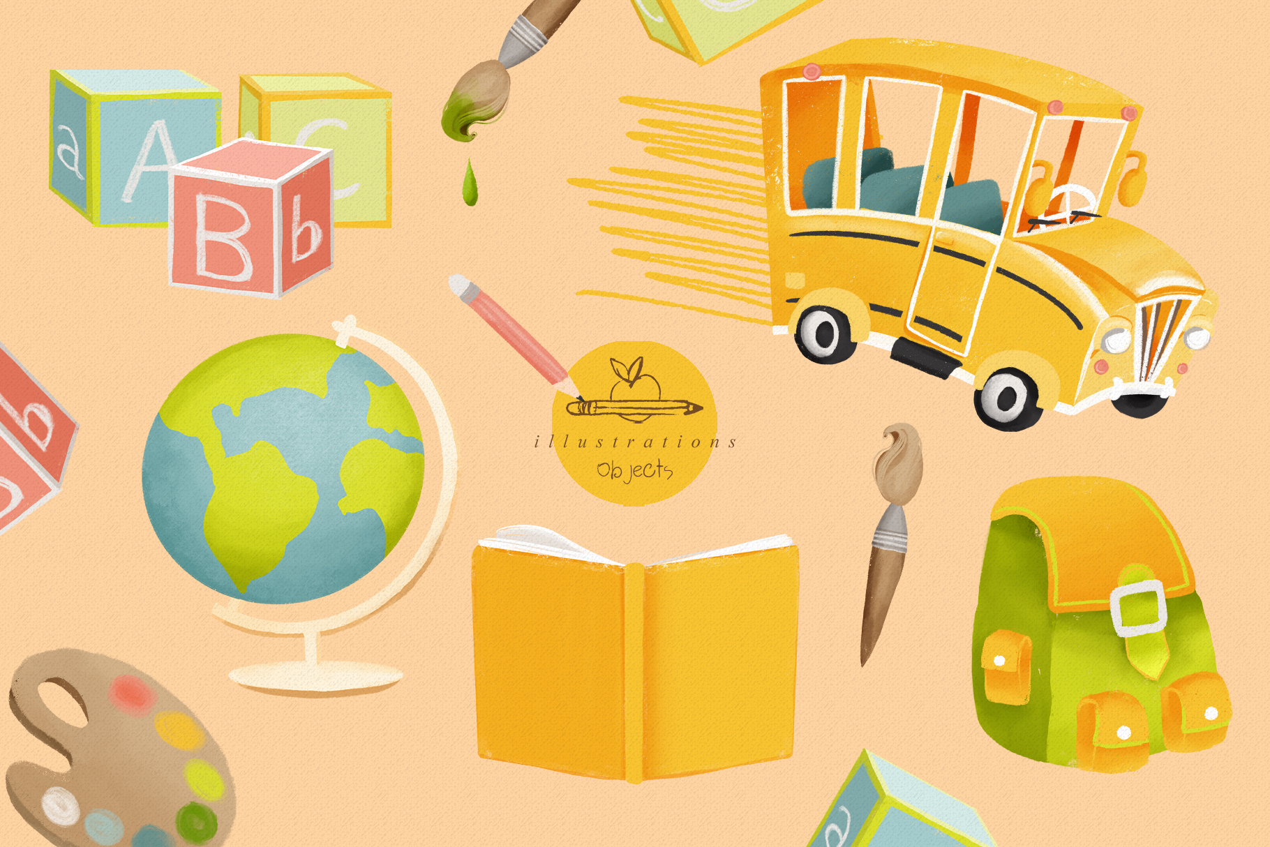 Back to School Clipart Collection example image 3