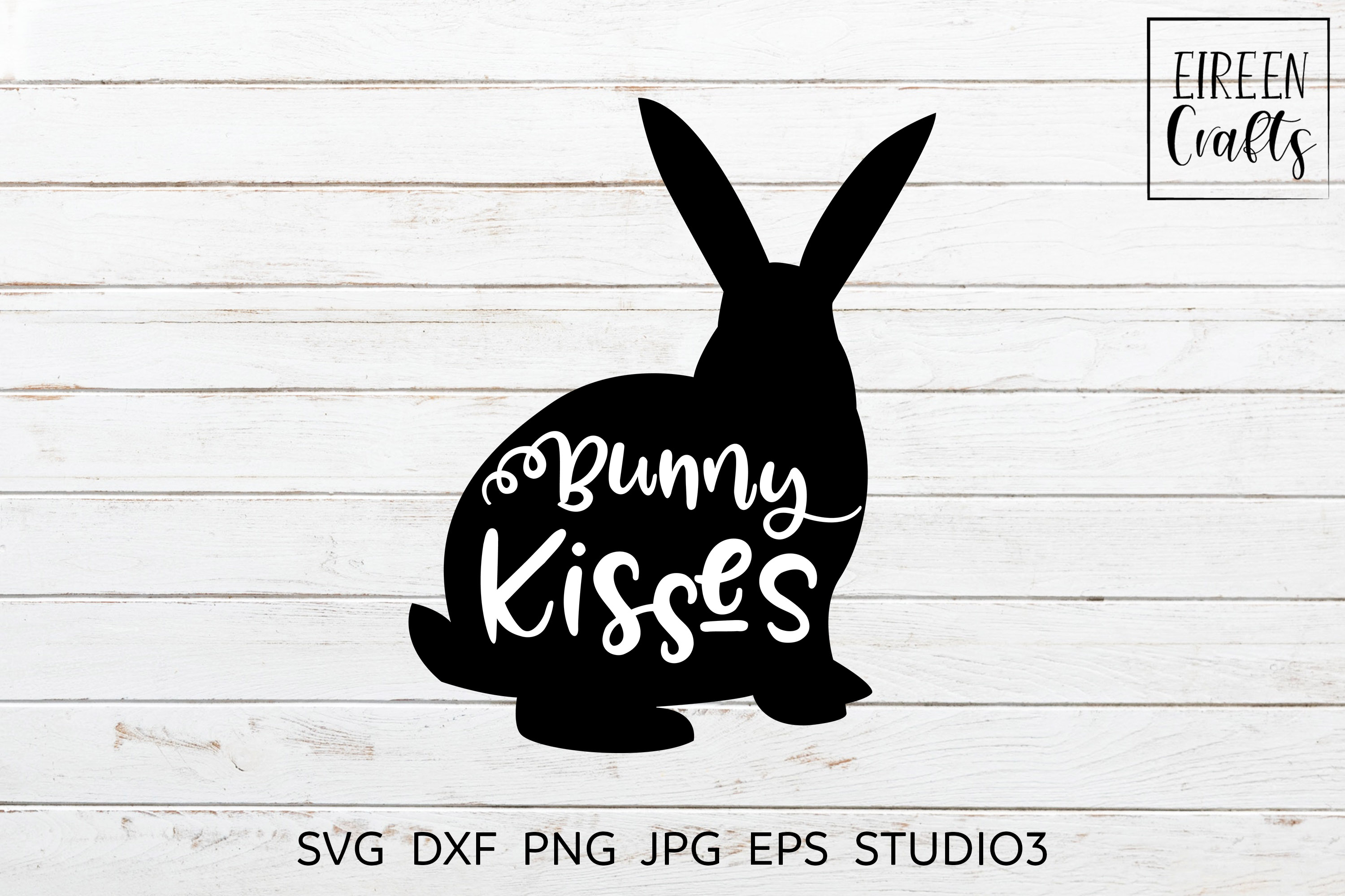 Bunny kisses SVG - cut file for Cricut & Silhouette example image 3