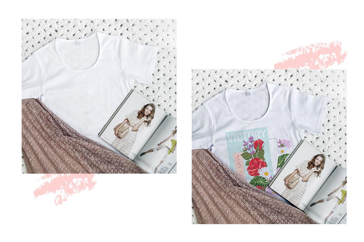 Women T-shirt mockups example image 6