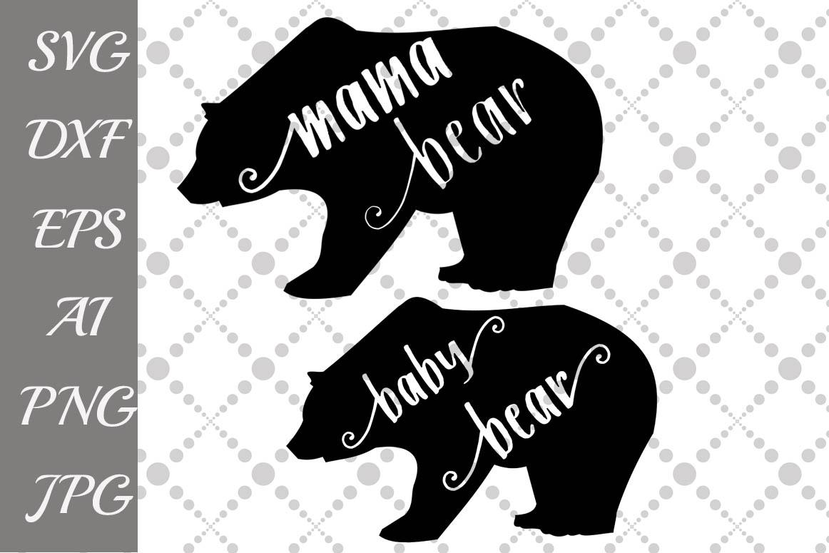 Mama Bear Svg baby bear svg example image 1