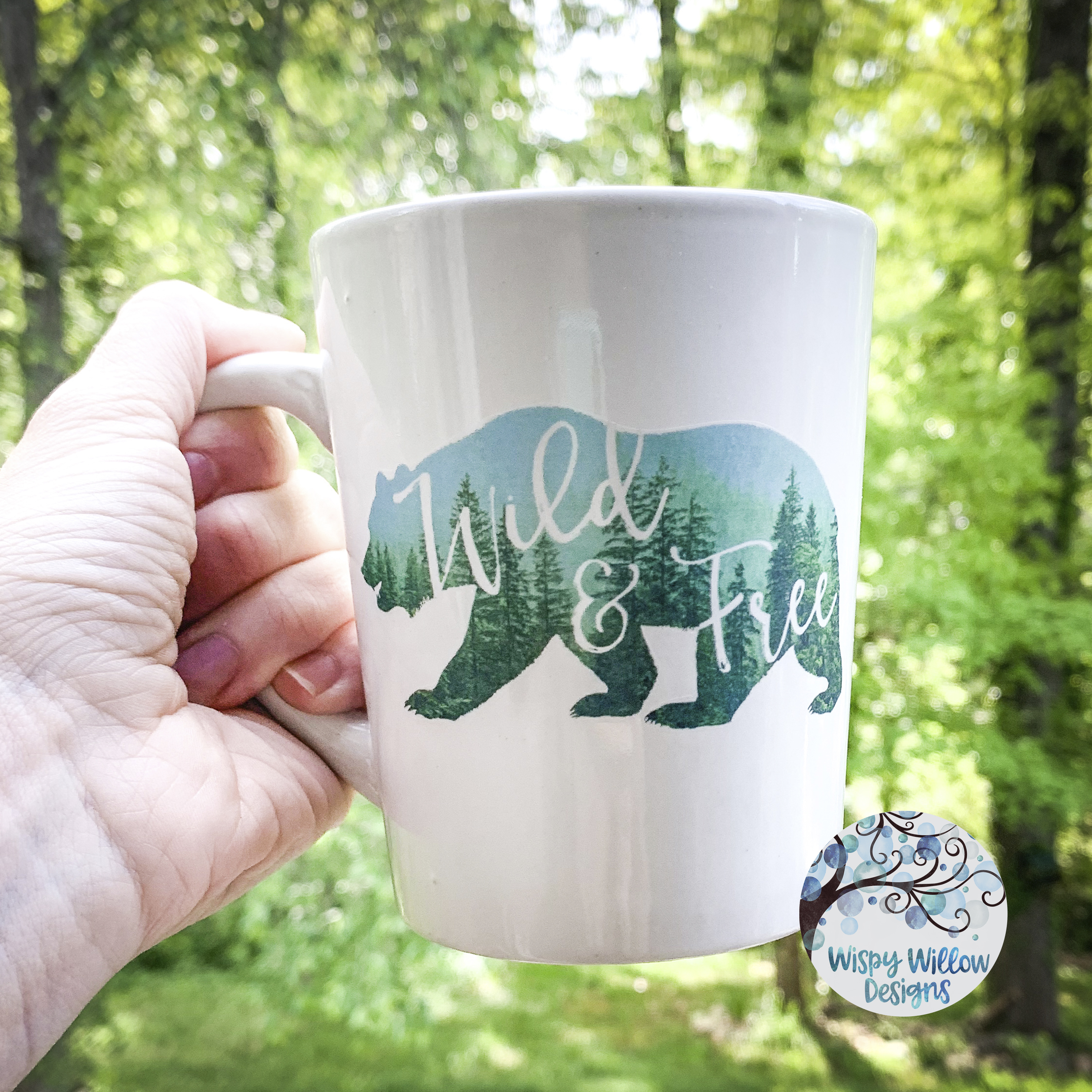 Wild & Free | Forest Bear PNG | Sublimation | Clipart example image 4