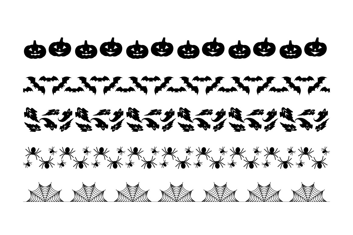Halloween Pattern Brushes example image 2