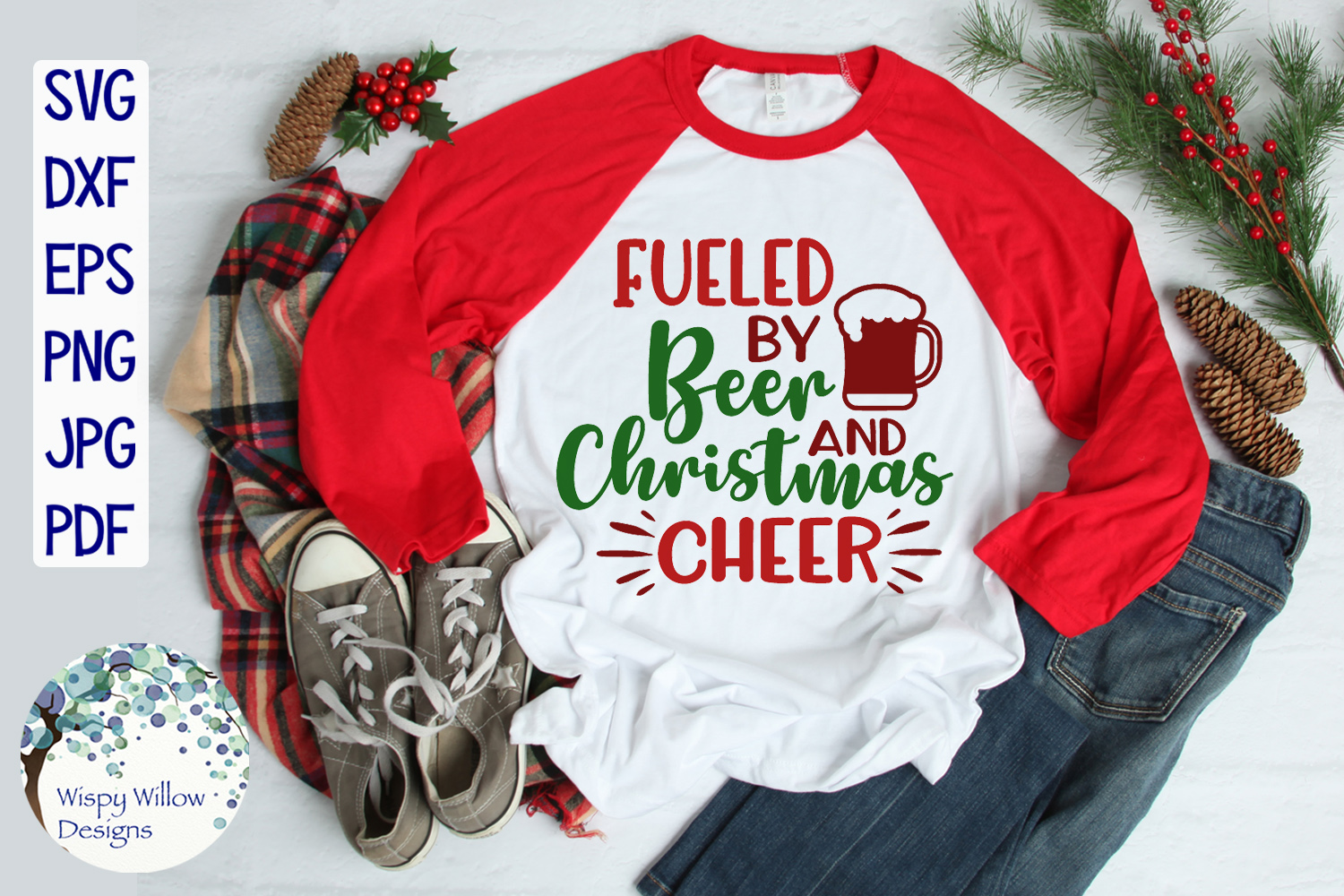 Fueled By Beer and Christmas Cheer | Christmas SVG example image 2