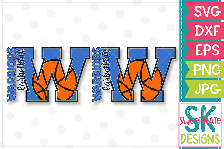 W Warriors Basketball SVG DXF EPS PNG JPG example image 5