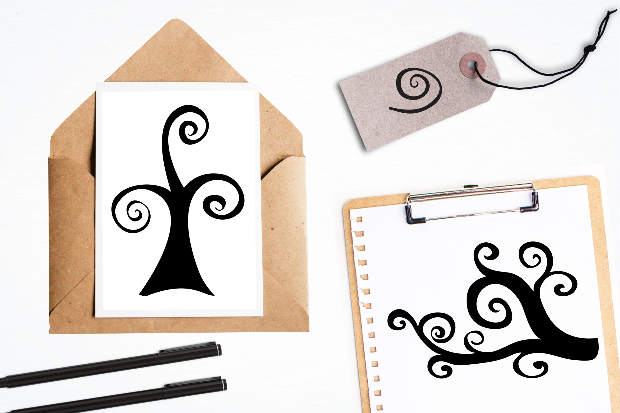 Macambre Swirls graphics and illustrations example image 4