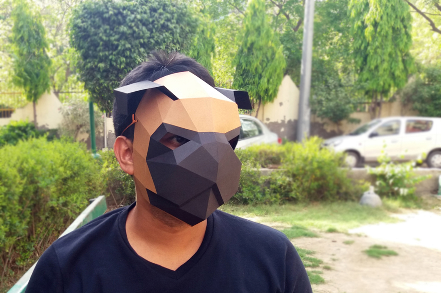 DIY Pug mask - 3d papercrafts example image 5