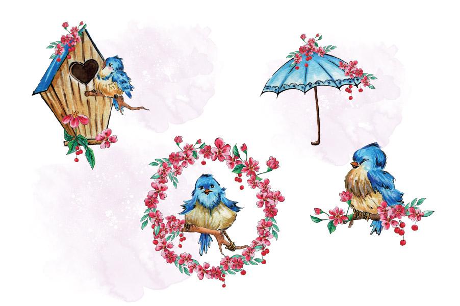 Cherry Blossom Clip Art example image 2