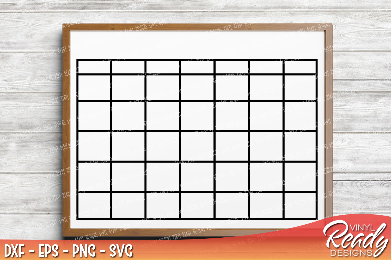 Blank Calendar Svg : Monthly calendar blank template vecto design bundles