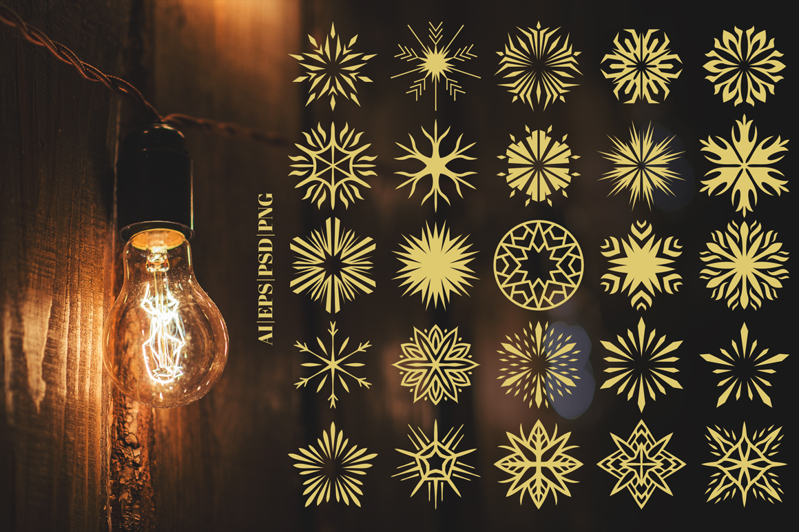 100 Star Vector Ornaments example image 5