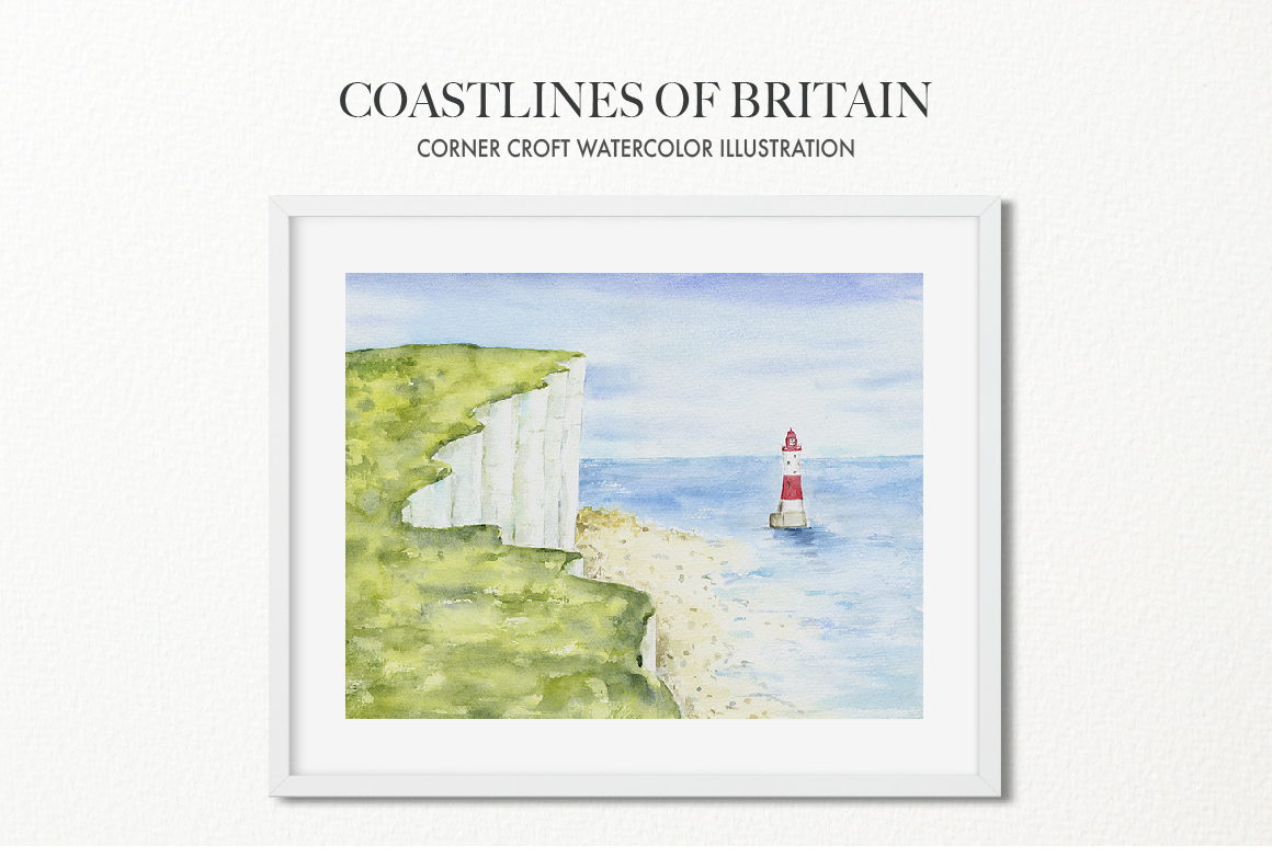 Watercolor Coast of Britain For Instant Download example image 10