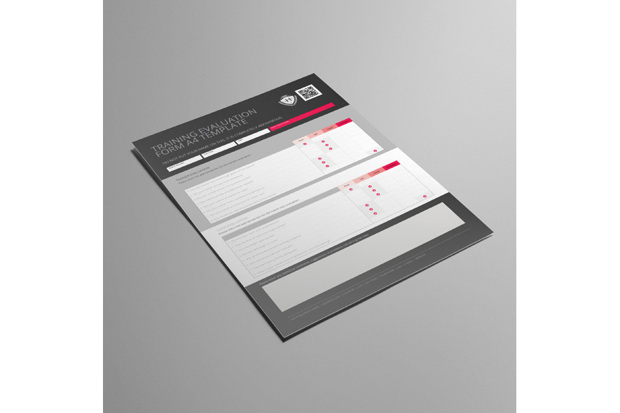 Training Evaluation Form A4 Template example image 4